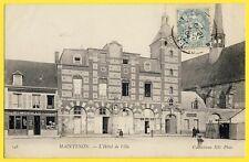 cpa MAINTENON (Eure et Loir) L'HÔTEL de VILLE Commerces E. MOREAU et L. LOCHON