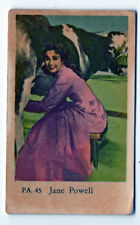 1950s Swedish Film Star Card PA Set #45 American Singer Actress Jane Powell