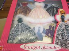 Barbie Doll Starlight Splendor 6 Ball Gowns Dresses Fashion #2 1999 NEW
