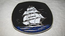 """Lovely Colorful Ocean Clipper Ship with Birds 10 3/4"""" Plate by Shute"""