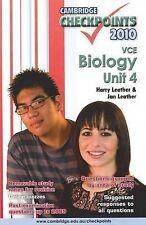 Cambridge Checkpoints 2010 VCE Biology Unit4 Harry Leather & Jan Leather