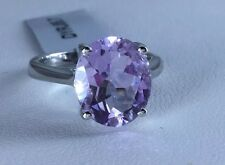 Size 7 4.40 ct Rose De France Amethyst Sterling Silver Ring
