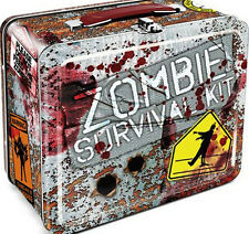 Walking Dead Zombie Survival Kit Vintage Style Metal Lunch Box