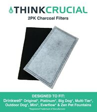 2 Drinkwell 2-Chamber Replacement Charcoal Filters