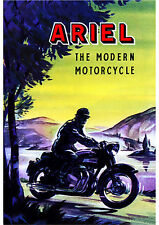 Late 1950's Ariel Square 4 Mk.2 motorcycle poster