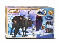 Disney Frozen '4 Pack Wood Tray' 4 X 24 Piece Puzzle With Tray Brand New Gift