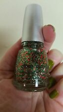 China Glaze Party Hearty Nail Polish Lacquer Christmas Holiday Red Green Glitter