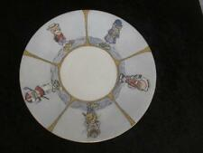 H1 Antique Limoges Plate - Handpainted Character Duck in Costumes Bobby Golfer