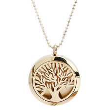 Tree Of Life Essential Oil Perfume Diffuser Locket Aromatherapy Necklace lem