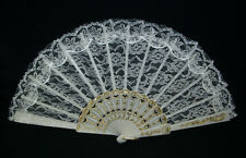 Fan White Lace  Costume Accessories