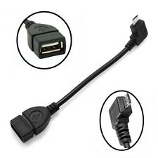 USB A 2.0 Female Host to Micro USB B Male OTG Adapter Cable For Android Phones