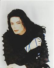 "MICHAEL JACKSON Hand Signed 8""x10"" Colour Photo Half Length Seated Pose"