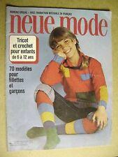 Magazine Neue Mode Tricot et crochet pour enfants de 6 à 12 ans  N°4309  /A25