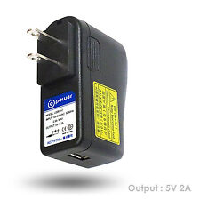 5V 2A 2amp 2000ma 10 watt high power USB wall plug home fast charger ac adapter