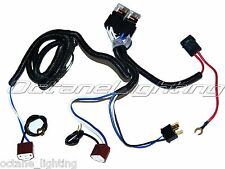 Ceramic H4 Headlight Relay Wiring Harness 2 Headlamp Light Bulb Socket Plugs 7X6