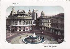 GENOVA CITTÀ 357 FONTANA Cartolina FOTOGRAFICA viaggiata 1953
