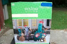 ALLIGATOR BAND 6.5 FT CHRISTMAS AIRBLOWN INFLATABLE OUTDOOR YARD DECOR NIB