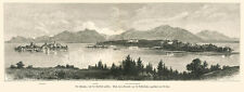 Chiemsee 60x21cm Fraueninsel Herreninsel Bayern Ansicht 1880 Faksimile 2 XL