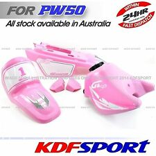 KDF BIKE PARTS  PLASTIC COVER TANK FENDER PINK PW FOR YAMAHA PW50 PY50 PEEWEE 50