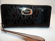 MICHAEL KORS JET SET TRAVEL MIRROR CONTINENTAL TRAVEL WALLET WRISTLET 168.00