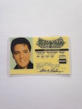 Elvis Presley Novelty ID Card