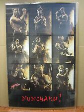 Vintage Martial Arts  NUNCHAKU! Nunchuck  Karate poster 1987 4311