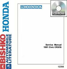 1991 Honda Civic CRX / Si Shop Service Repair Manual CD Engine Drivetrain OEM