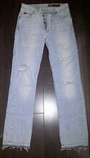 BLUE JEANS strappato destroyed ripped hole pants GAS model MEMPHIS W31/L36