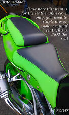 BLACK & GREEN CUSTOM FITS KAWASAKI NINJA ZX6R 98-03 FRONT &REAR BIKE SEAT COVERS