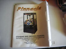 PINNACLE ice crane arcade video game manual