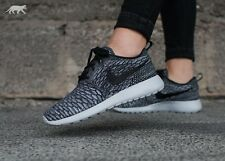 NIKE ROSHE ONE FLYKNIT TRAINERS UK 7.5 EUR 42 COOL WOLF GREY BLACK AIR MAX RACER
