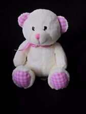Teddy Bear (cream) Keel Toys Pink Check Plush Stuffed Animal