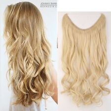 """US 3/4 Full Head Wire Hair Extensions Secret Invisible One Piece Ash Blonde 20"""""""