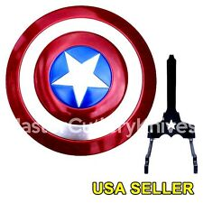 1:1 scale Captain America Shield Metal Replica Avenger Cosplay Collectible Stand