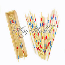 Wooden Wood Pick Up Sticks Retro Traditional Game Pickup Stick Toy Brand New