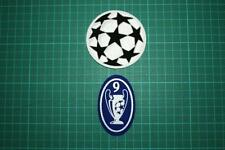 UEFA CHAMPIONS LEAGUE and 9 TIMES TROPHY BADGES 2002-2003