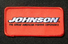 """JOHNSON MOTORS EMBROIDERED SEW ON PATCH AMERICAN FISHING ANGLER  4"""" x 2"""""""