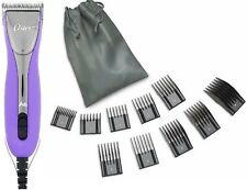 New Purple Oster A6 3-Speeds Professional Animal Dog Clipper+10 Comb Guides+Poch