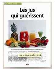 Petit guide AEDIS Dépliant 8 faces éducatif N°336 Les jus qui guerissent NEUF