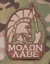 MOLON LABE SPARTAN MULTICAM TACTICAL COMBAT BADGE MORALE MILITARY PATCH