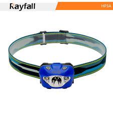 Rayfall HP3A Stirnlampe,Wasserdicht, Blau , 5 Leuchtstufen, Kopflampe 168 Lumen