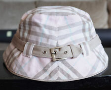 Burberry London pink nova plaid bucket hat cap