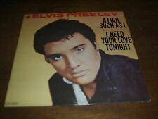 """ELVIS PRESLEY 45 TOURS CANADA I NEED YOUR LOVE TONIGHT"