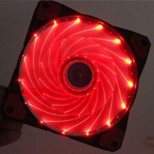 needcool GI 120mm 12cm Rojo 32 LUCES LED ULTRA SILENCIOSO CAJA Ventilador para -
