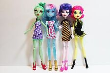 LOT of 4 MONSTER HIGH CAM Create A Monster DOLLS:  Gorgon, Cat, Ice & Bee