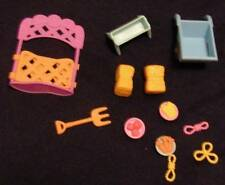 Lot 12 Littlest Pet Shop Farm Accessories Hay Gate Wheelbarrow Pitch Fork