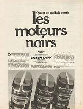 Publicité 1970  MERCURY  les moteurs noirs hors bord bateau