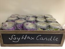 2 X 100% SOY wax tin Candle Lavender, Chamomile, Honey travel, home & office