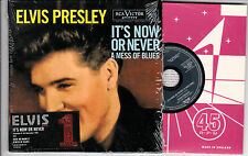 CD CARTONNE CARDSLEEVE ELVIS PRESLEY IT'S NOW OR NEVER EDIT. LIMITÉE NUMÉROTÉE