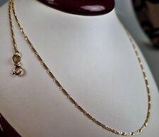Halskette 18 Karat Flache Kette Collier 750-er Gelbgold Gold L 45 cm